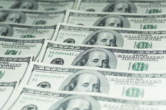 Honderd Dollarsgeld Stock Fotografie