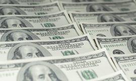 Honderd Dollarsgeld Stock Afbeelding