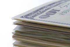 Honderd dollarsnota's Royalty-vrije Stock Foto's