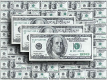 Honderd dollarsnota's Stock Foto's