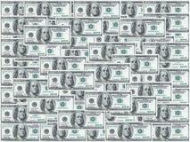 Honderd dollarsnota's stock foto