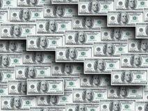 Honderd dollarsnota's Stock Afbeelding
