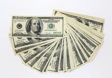 Honderd dollarsnota's Stock Afbeeldingen