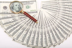 Honderd dollarspret en lijn en lijn Stock Foto