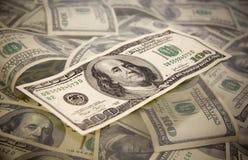 Honderd dollarsrekening Stock Foto