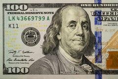 Honderd dollarsrekening 005 Royalty-vrije Stock Foto's