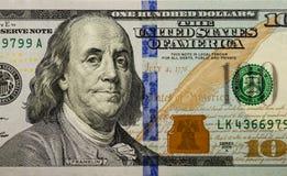 Honderd dollarsrekening 004 Royalty-vrije Stock Afbeeldingen