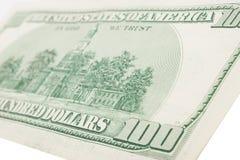 Honderd dollarsrekening Macro Royalty-vrije Stock Foto