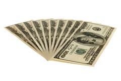 Honderd dollarsrekeningen Stock Foto's