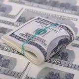 Honderd dollarsrekeningen Stock Afbeelding