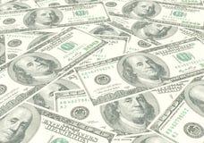 Honderd dollarsrekeningen Royalty-vrije Stock Foto's