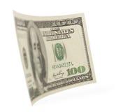 Honderd dollarsrekeningen uiteindelijk Royalty-vrije Stock Foto