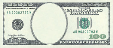 Honderd dollarsspatie Stock Afbeelding