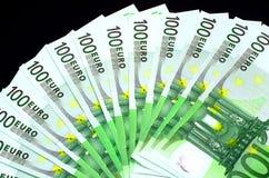 Honderd Euro Bankbiljetten Stock Afbeelding