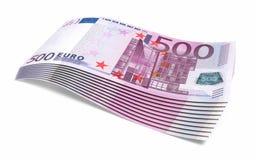 500 honderd euro bankbiljetten royalty-vrije illustratie