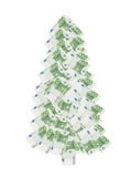 Honderd euro Kerstmisboom Stock Afbeelding