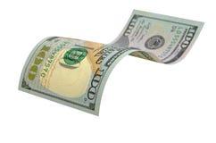 Honderd geïsoleerde dollars Royalty-vrije Stock Afbeelding