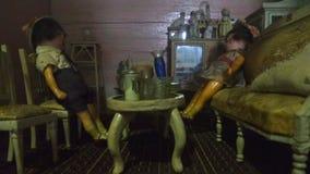 Honderd jaar het stuk speelgoed van het poppenhuis Royalty-vrije Stock Foto