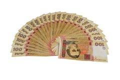 Honderd Oekraïense hryvnia Royalty-vrije Stock Afbeeldingen
