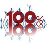 Honderd percenten Stock Foto's