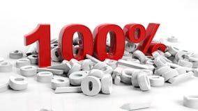 Honderd percenten Stock Foto