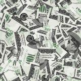 Honderd rekeningen naadloos vectorbehang Royalty-vrije Stock Foto's