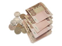 Honderd roebels Royalty-vrije Stock Afbeeldingen