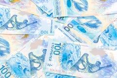 Honderd roebels van de Russische die Federatie voor Olympics wordt uitgegeven Royalty-vrije Stock Foto's