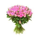 Honderd roze rozen Stock Foto's