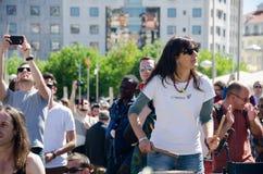 Honderd Trommelsfestival op Arbeidersdag Stock Afbeelding