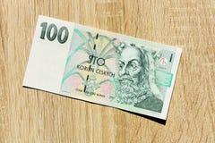 Honderd Tsjechische kronen Stock Foto