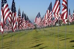 Honderden Amerikaanse Vlaggen Stock Fotografie