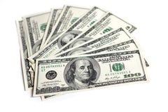 Honderden Dollars Stock Afbeelding