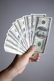 Honderden Dollars Royalty-vrije Stock Afbeelding
