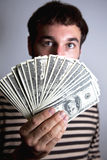 Honderden Dollars Royalty-vrije Stock Foto's
