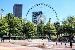 Honderdjarig Olympisch Park, Atlanta, GA royalty-vrije stock afbeeldingen