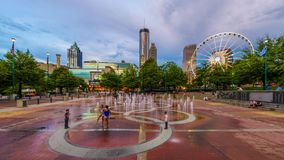 Honderdjarig Olympisch Park Atlanta Georgië stock videobeelden
