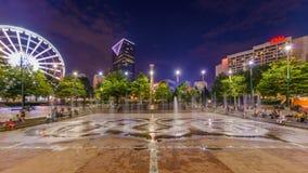 Honderdjarig Olympisch Park Atlanta Georgië stock video