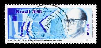 Honderdjarige Geboorte van Gustavo Capanema, Politici serie, circa 20 Stock Fotografie
