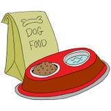 Hondevoer het voeden post Stock Foto