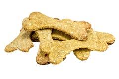 Hondevoerkoekje als beenderen wordt gevormd dat royalty-vrije stock foto