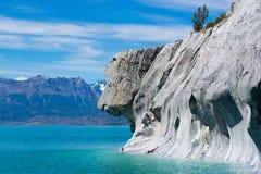 Hondgezicht in Marmeren Stenen Stock Foto's