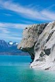 Hondgezicht in Marmeren Stenen Stock Fotografie