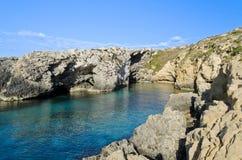 Hondoq ir-Rummien in Gozo - Malta. Secluded beach in Hondoq ir-Rummien, Gozo - Malta Stock Photography