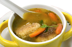 Honduran capirotadas, cheese dumpling soup. Stock Photography