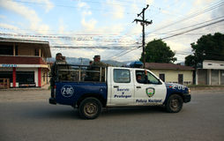Honduran National Police on Patrol Stock Photography