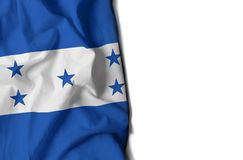 honduran rynkad flagga, utrymme för text Arkivfoto