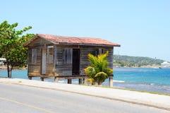 Honduran shack. Shack in Honduras on ocean Royalty Free Stock Images
