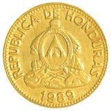10 honduranskt lempiracentavos mynt Fotografering för Bildbyråer
