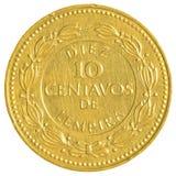 10 honduranskt lempiracentavos mynt Arkivfoto